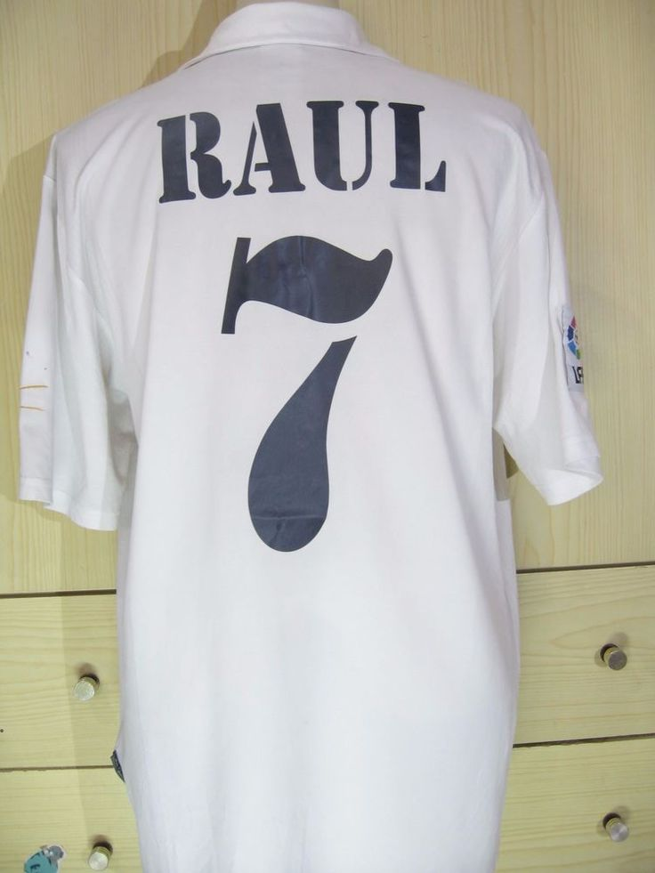 Raul Gonzalez Real Madrid Centenary 2001 Spain Football Shirt Soccer Jersey L | eBay
