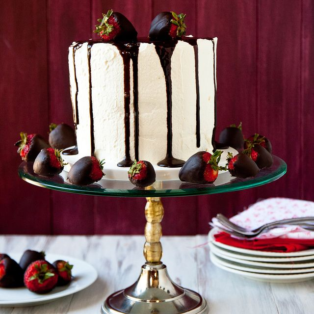 Tuxedo Cake. My mom did this with chiffon cakes when I was growing up - dramatic and delicious.
