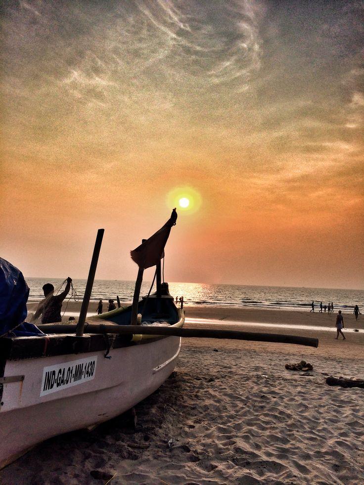 Sunset at Arambo beachl, Goa