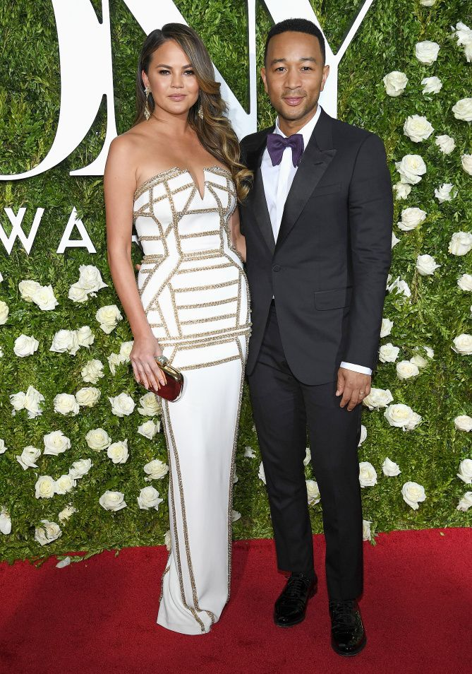 Tony Awards 2017 Red Carpet Arrivals - Chrissie Teigen & John Legend