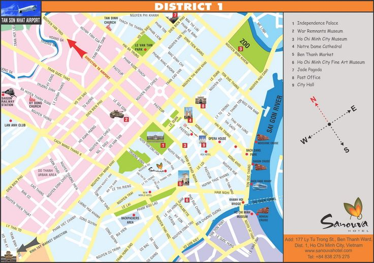 saigon district 1 tourist map walking routes Google Search – Tourist Attractions Map In Vietnam