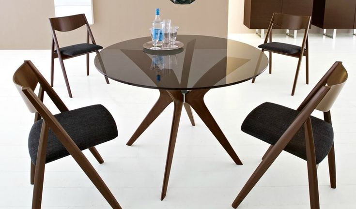 100+ Round Black Glass Dining Table - Best Paint for Furniture Check more at http://livelylighting.com/round-black-glass-dining-table/