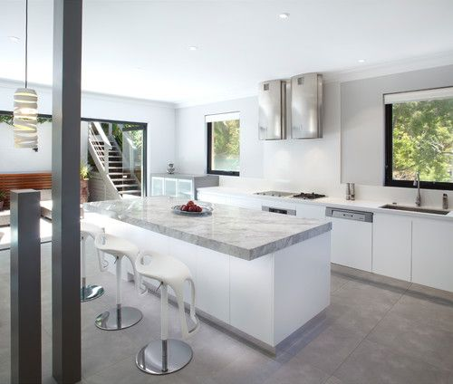 Minimal wall cabinets. Want a kitchen that feels open, airy and not too top-heavy? Then we're sure you'll appreciate this look, which Pillay predicts will be on the rise in 2015.