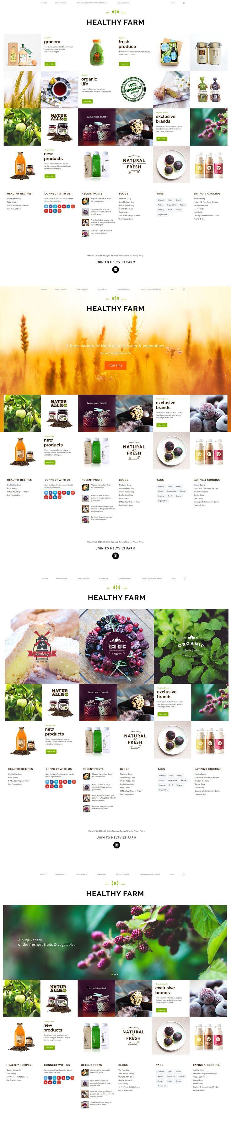 Интернет-магазин эко продуктов. Web design, веб дизайн, e-commerce.