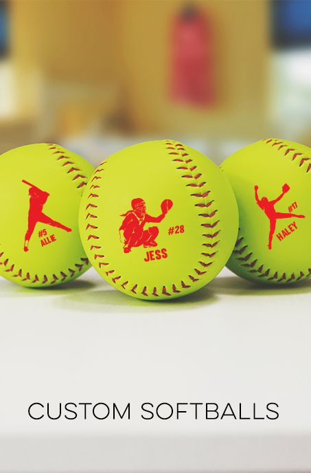 Check out our custom softballs! The perfect gift for your favorite softball player, coach, team or even fan! Several options