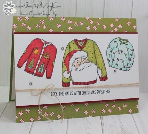 Stampin' Up! Christmas Sweaters with Stampin' Blends! – Stamp With Amy K