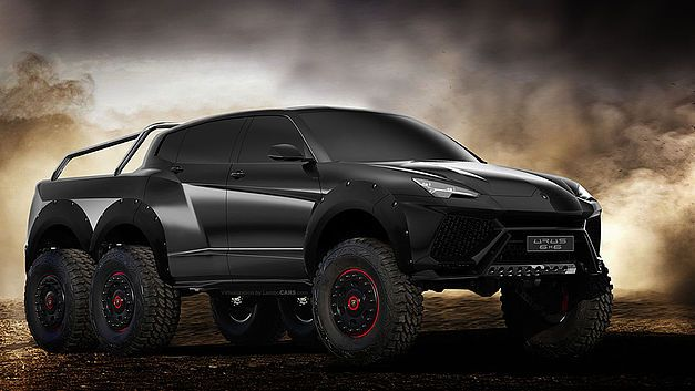 Concept: Lamborghini SUV heeft 6x6-aandrijving