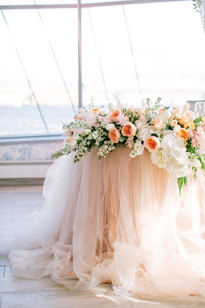 Gorgeous sweetheart table design