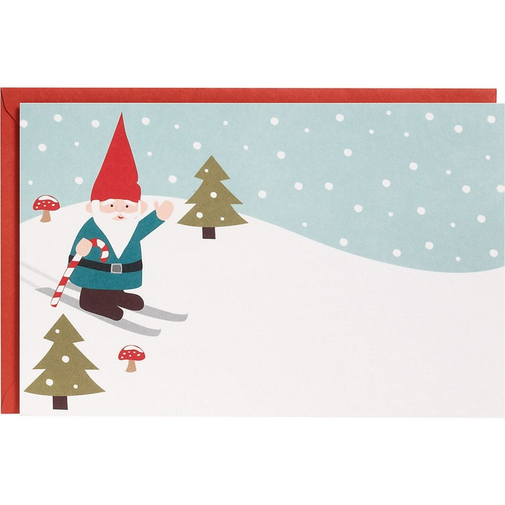 Skiing Gnome A9 Printable Party Invitations - PaperSource.com
