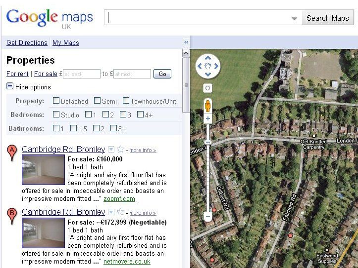 Google launches UK property search service | Google has unveiled its latest addition to its Google Maps service – property searching. Buying advice from the leading technology site