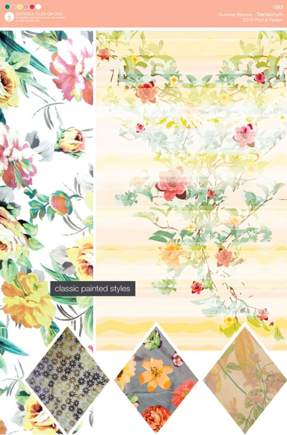 MPD SS15 Print & Pattern -Summer Blooms. Click for free preview ...