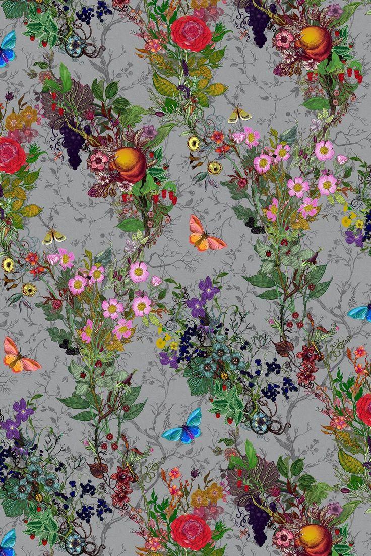 Timorous Beasties Wallcoverings - Bloomsbury Garden.  Nursery.