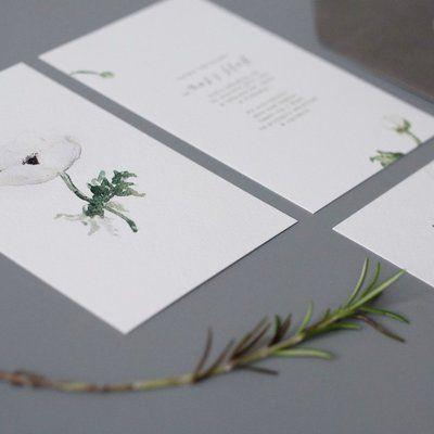 Love Prints Oryginalne Kwiatowe Zaproszenia Ślubne - Pan Anemon