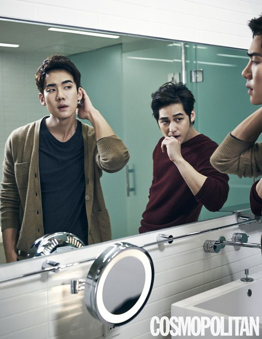 Yoo Yeon Seok and Kim Bum