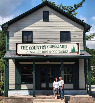 The Country Cupboard in Ligonier, PA has been a customer of ours for several years. They deal in primitive furniture, wood working, country collectibles, and it looks like a store I'd really like to be able to browse in person. Lots of online content available at their website.