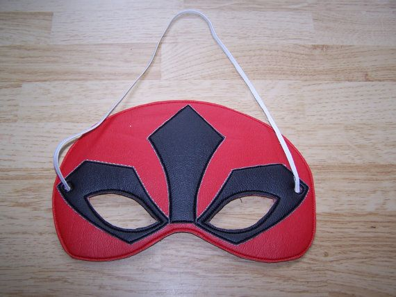 Red Power Rangers Mask, Fits the 5x7 hoop