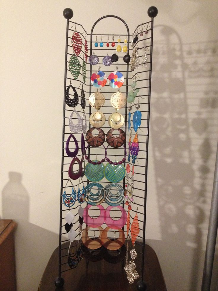Dvd Rack Repurposed Into My Earring Holder Going To Spray