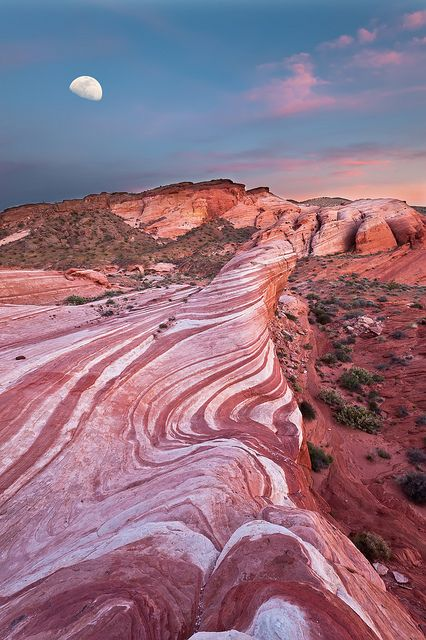 Valley of Fire, State Park, Nevada....  Located just 50 miles NE of Las Vegas the oldest state park in Nevada has some of the most beautiful and unusual redrock I have ever seen.