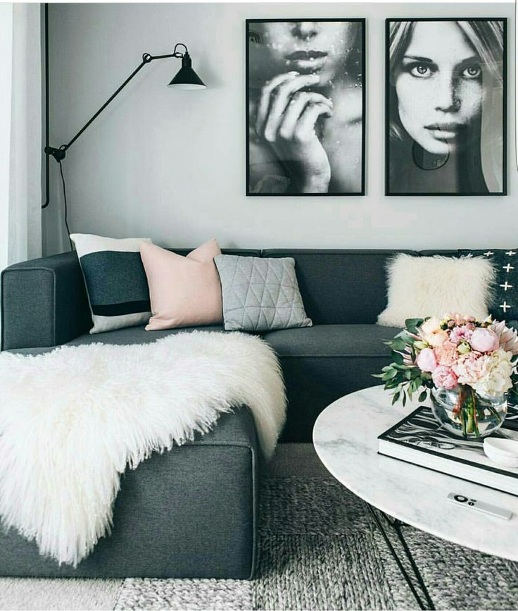 L shaped couch interior space