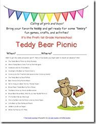 Planning resources for a Teddy Bear Picnic (invitation, passport of activities, station ideas and explanations)