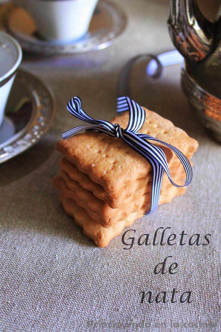 PRINCIPIANDO EN LA COCINA: Galletas de nata {sin lactosa}