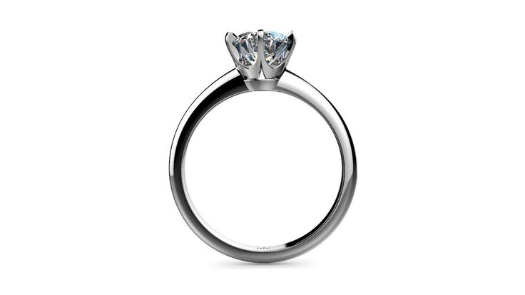 Classic 1 Ct Platinum six claw engagement ring design - Perth Diamond Company
