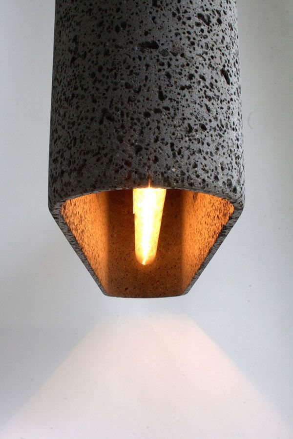 Lámpara colgante de piedra volcánica Aso San