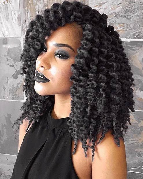 Big Crochet Hair Styles : ... Braids Box or Twist on Pinterest Twist outs, Box braids and Purple