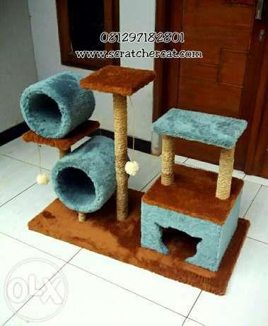 MAINAN KUCING/rumah kucing/cat scratcher/cat condo/garukan kucing