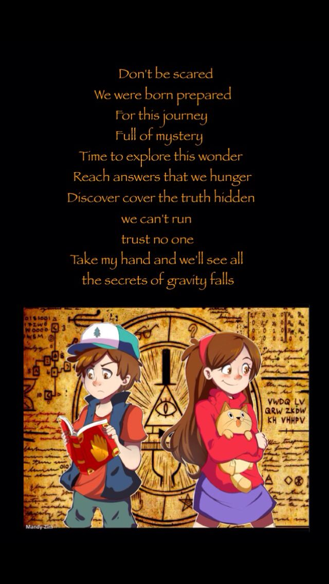 Gravity Falls theme song lyrics ( https://m.youtube.com/watch?v ...