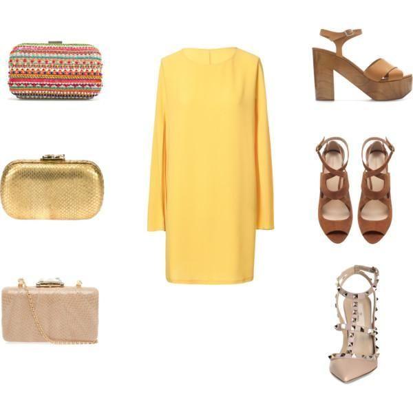 Qué Zapatos Combinar Con Un Vestido Amarillo Vestido Amarillo Combinar Vestido Amarillo Vestido Amarillo Boda