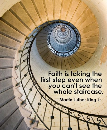 Stair Wall Art Faith Is Taking The First Step Even When You Can't See The
