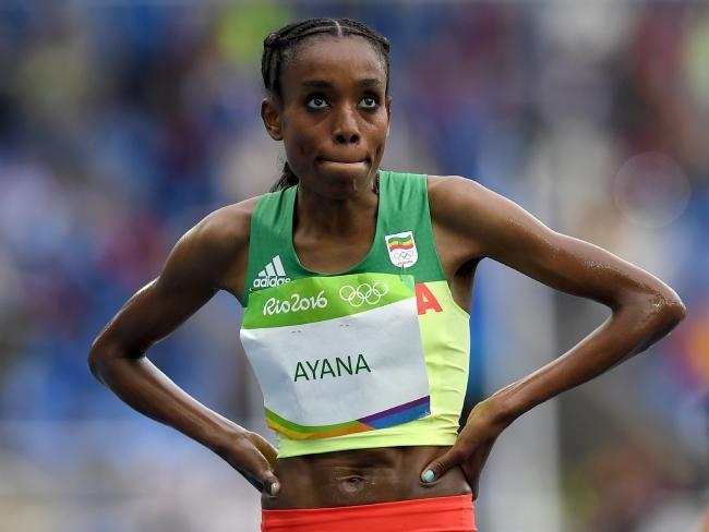 Almaz Ayana won the 10,000m. at Rio 2016 representing Ethiopia