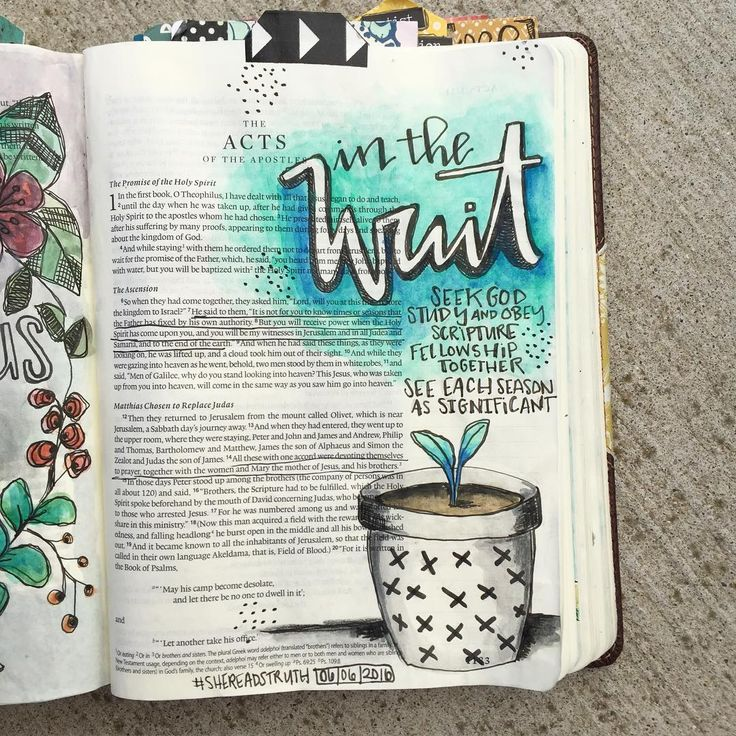 Bible Journaling  by @stephmiddaugh | Acts