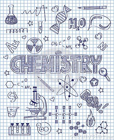 Hand drawn chemistry set