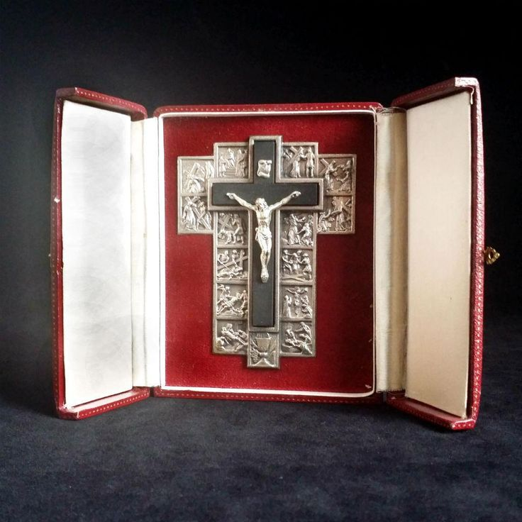 Portable Station of the Cross from vintagecatholic on Ruby Lane