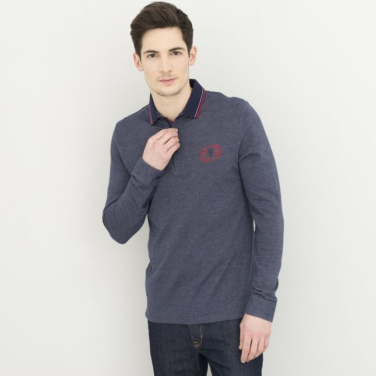 Polo manches longues homme casual - image 1