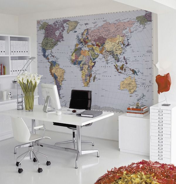 Wallpaper for the home office / © PHOTO: Fantasi Interiør