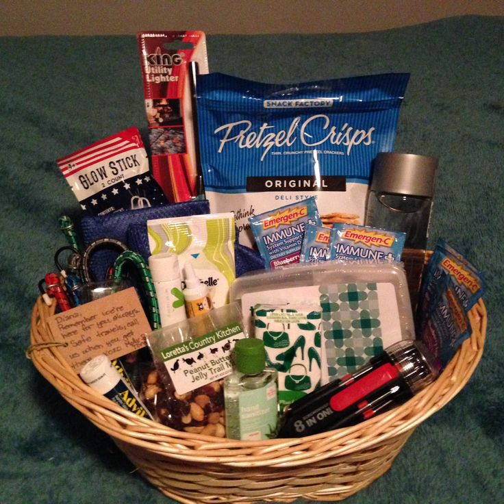 Road Trip Gift Basket for friends heading out onto the open road.