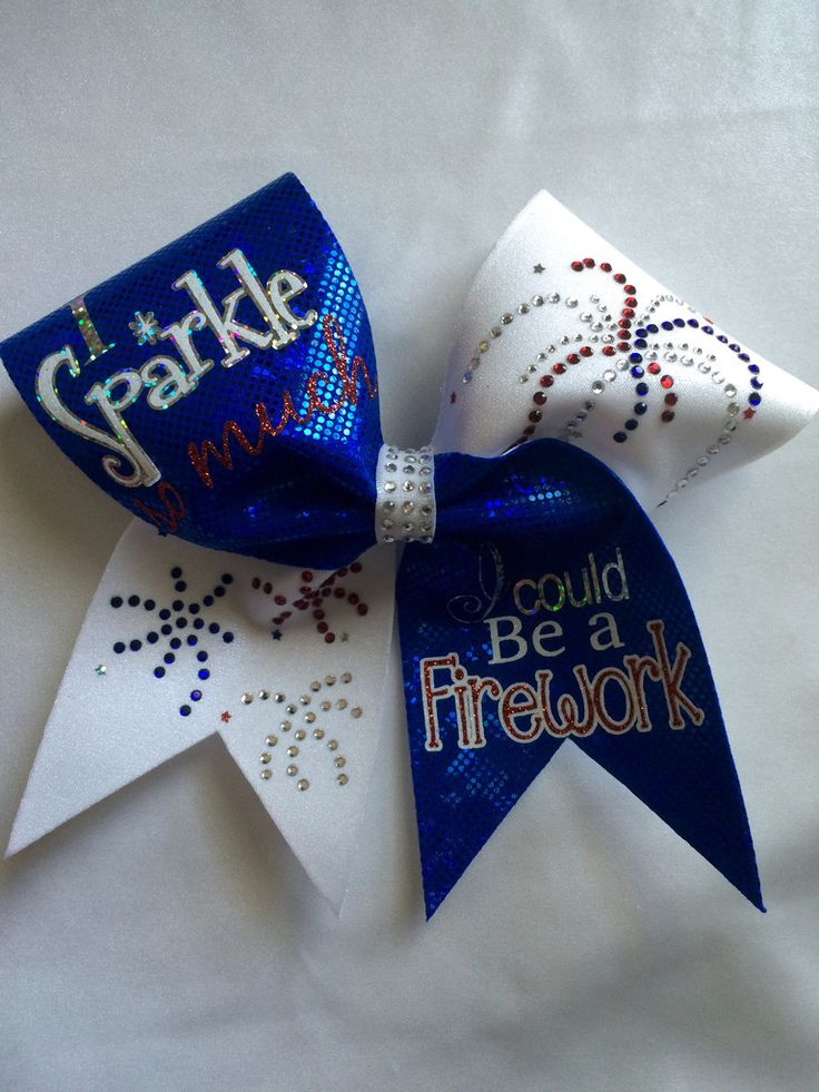I Sparkle So Much, I Could Be a Firework Bow America Cheer Bow #merica