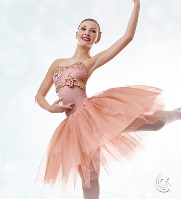 Curtain Call Costumes Enchantment Rose Nylon Spandex Leotard With Sequin Embroidered Mesh
