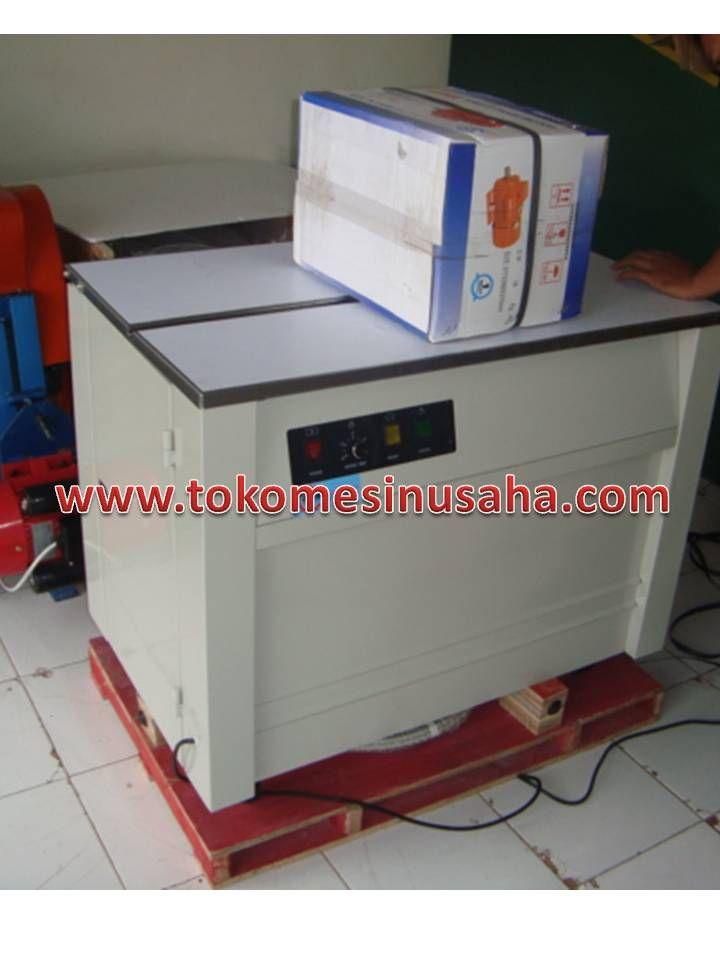 Mesin Strapping adalah mesin yang digunakan untuk merekatkan kemasan suatu produk menggunkan tali, tali yang dapat digunakan antara lain tali polimer, polister dan nilon. Spesifiasi : Type                   : KZB-1 Daya                   : 110, 220-240V/50-60Hz 1Phase Power                 : 0,4KVA Tensi Strap         : 5-60 kg Kecepatan strap : 1,8Sec/Strap Panjang Strap    : 6 – 15 mm Dimensi              : 83.5 x 56 x 72.5 cm Berat                  : 90 kg