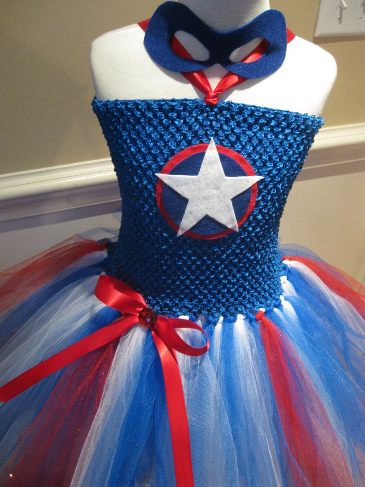 Captain America Tutu Dress Avengers Super by TieDyedFairyTales