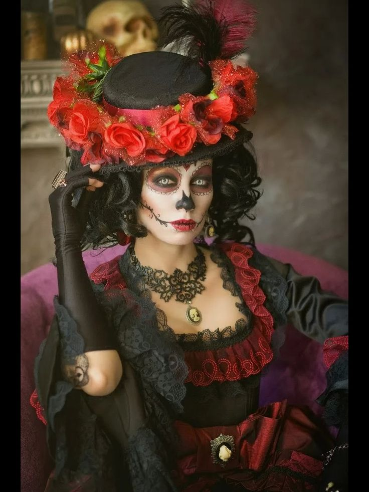 Sugar skull costume for women heatherschonis pinterest for women halloween and image search - Sugar skull images pinterest ...