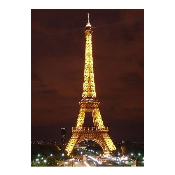 Eiffel Tower Picture ❤ liked on Polyvore
