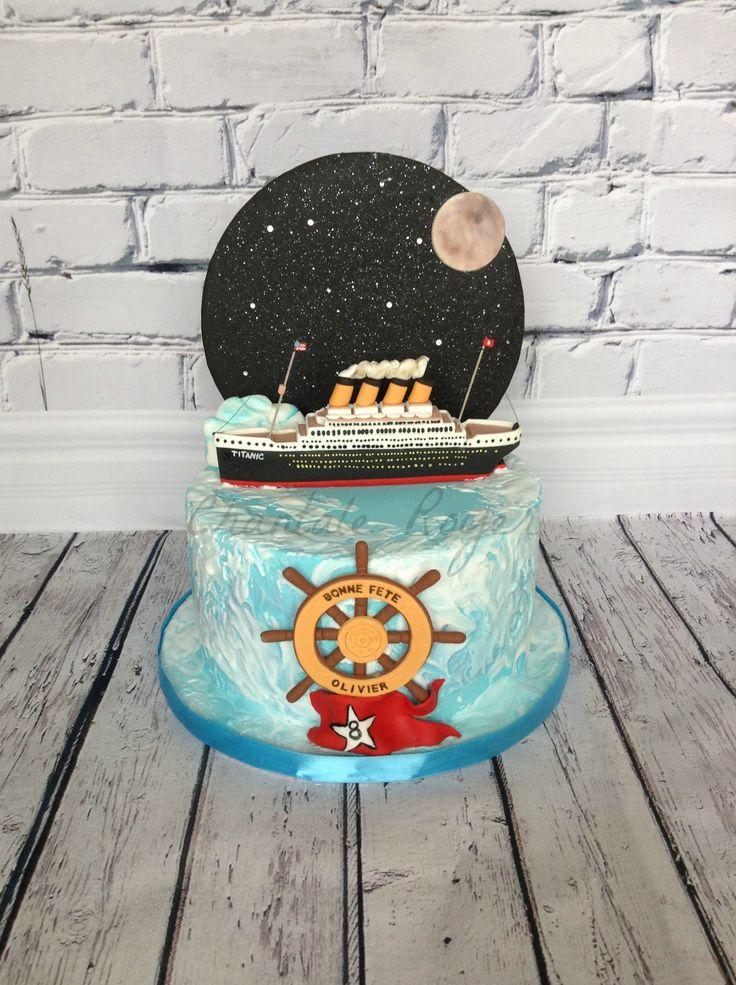 Titanic cake gâteau fondant