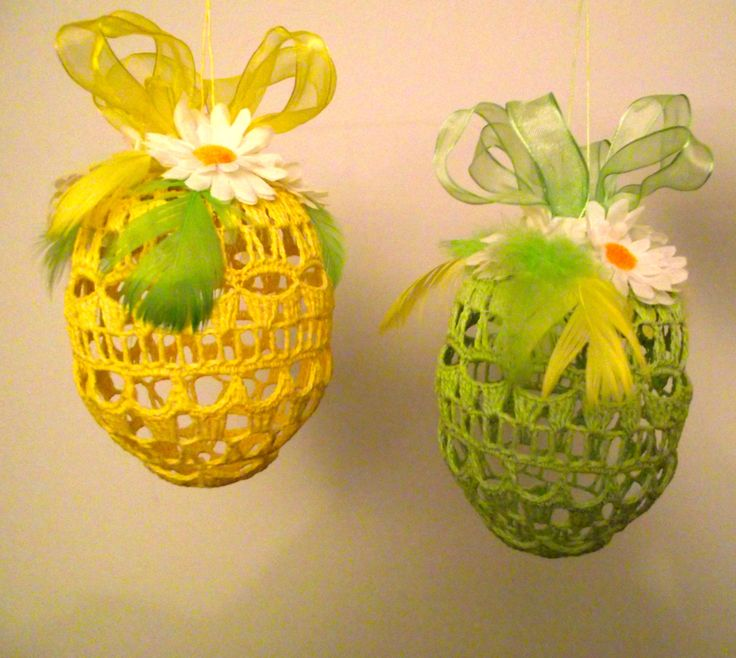 Crochet Easter egg - table decoration, windows or a unique gift. by Niezapominajkinet on Etsy