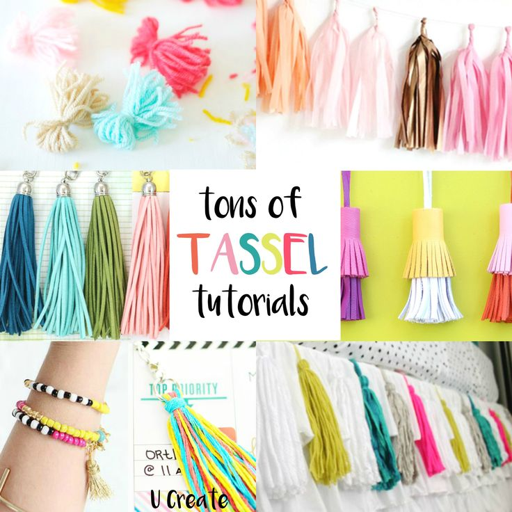 Tassels make the perfect embellishment for bags, jewelry, party decor, planners, etc.! Check out the many different tutorials and ways you can use tassels in your crafting. Attach them to a journal or