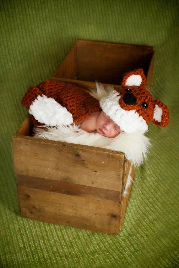 Crochet Ideas, 32 00, Crochet Hats, Fox Crocheted Hat, Baby Crochet ...