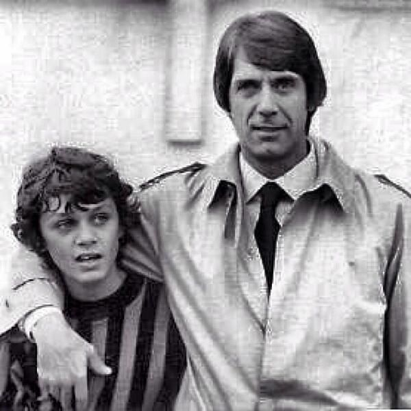 Two generations of AC Milan legends, Cesare and Paolo Maldini
